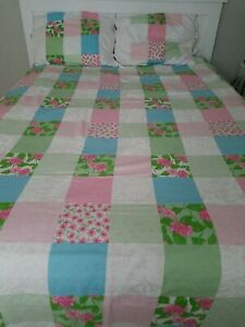 Lilly Pulitzer ☆ Perfectly Patched ☆ KING  Duvet Cover + 2 Shams !☆ Reversible ☆