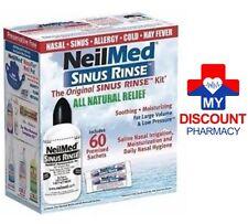 NEILMED SINUS RINSE KIT INCLUDES 60 SACHETS WITH BOTTLE