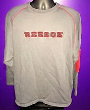 Vintage Reebok Jumper Sweater Crew neck Extra Large Gray and Red XL