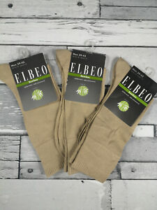 Elbeo 39-42 Lot Of 3 Pairs Of Socks Bamboo 80% Viscose Of Bamboo, Linen