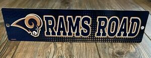 """NEW Los Angeles Rams Very Cool Premium Plastic """"Rams Road"""" Novelty Street Sign"""