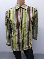 Camicia HUGO BOSS size taglia L uomo man chemise shirt maglia polo cotone P5435