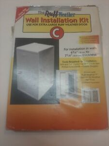 """Ruff Weather Pet Door Wall Installation Kit XL Extra Large Up To 7-1/4"""" Dog Cat"""