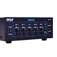 40W Compact Power Amplifier Amp Home System w/ Built-in Bluetooth, 2 MIC Inputs