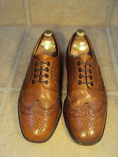 LOAKE TAN GRAINED-LEATHER COUNTRY BROGUES 7G