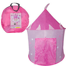 Play Pink Princess Tent Play House for Girls Indoor Outdoor Portable with Bag
