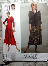 Vogue Patterns 2959 Today's Fit Sandra Betzina Dress 2007 All Sizes UNCUT