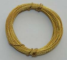 3.5 METRE LENGTHS OF FLEXIBLE BRAIDED BRASS PICTURE WIRE 0.45mm THICK