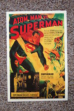 Superman vs Atom Man Lobby Card Movie Poster