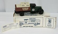 Amoco 1931 Stake Truck With Crates Die Cast Metal Lockable Coin Bank Ertl USA
