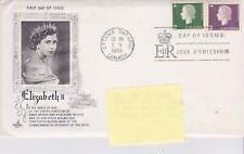 1963 Canada Fdc Art Craft Cachet - Queen Elizabeth Ii Scott #402 & 403