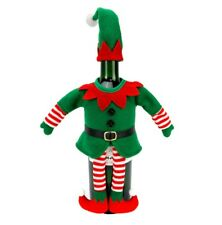 St. Nicholas Square Elf Christmas Holiday Wine Bottle Cover Bag Home Decor Gift