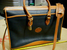 vintage Dooney & Bourke Brown Leather Messenge Satchel Briefcase Attache