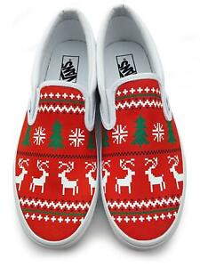 Ugly Christmas Sweater Slip-on Vans Brand Shoes