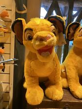 Géante Peluche 60 Cm 25 inches Simba The Lion King Roi Disneyland Paris Neuve