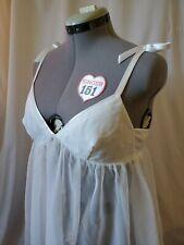 Victorias Secret Size Large Bridal Lingerie Babydoll Nightie White Sheer NWOT