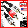 AUX Auxiliary 3.5mm Audio Plug Male to 2 RCA Plug Male Stereo Cable Cord Iphone
