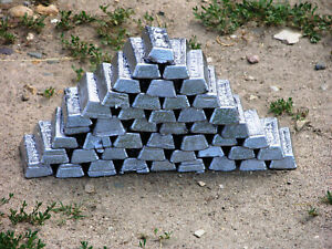 40 pounds lead ingots of 1 pound each free shipping