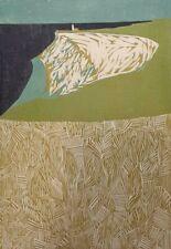 "ORIGINAL WOODCUT BY RANDI KJEKSTAD BULL (1915-2015 )  18 7/8 "" x 13 3/16 """