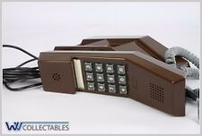 VINTAGE TELEPHONE PHONE BROWN PUSH BUTTON ERICSSON PTT TYPE VOX 100 TDK