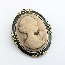 Women Vintage Cameo Elegant Brooch Pin Antique Wedding Portrait Brooch Pin NJ