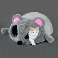 Cartoon Mouse Cat Cave Pet House Cushion Nest Soft Cozy Mat Sleeping Bed Lgloo S