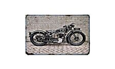 Gillet Confort Luxe Motorbike Sign Metal Retro Aged Aluminium Bike