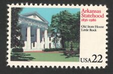 2167 Arkansas Statehood Us Single Mint/nh Free Shipping