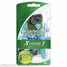 X2 Wilkinson Sword Xtreme 3 Sensitive Mens Disposable Razor - Pack of 4