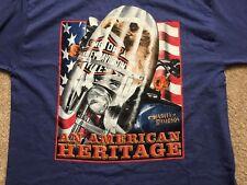 Vintage 1998 Harley Davidson American Heritage blue Shirt Nwot Men's Large