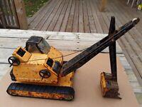 Nylint Vintage Toy Backhoe / Excavator. Pressed Steel Toys. Antique Toys