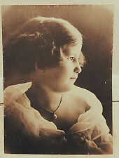 1920's B&W Portrait Photo Beautiful Young Girl Wealthy Letz Mfg Family Ethereal