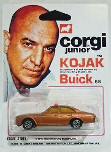 CORGI Junior 68 👨🏻🦲 KOJAK BUICK REGAL 🚗 Car on Custom Card Display - Used