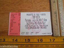 Toby Keith concert ticket 2008