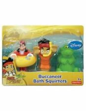 Disney 3 Set Lotto Bath Acqua Spruzza-Acqua Jake Neverland Pirata + Captain Hook