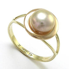 14k Yellow and Pink Rose Gold Lavender Pearl Ring # R720