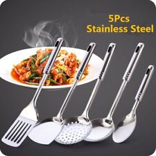 5PCS Stainless Steel Kitchen Utensil Set Cooking Serving Tool Spoon Spatula Home