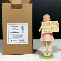 Foundations 4050137 I LOVE YOU, GRANDPA! Resin Girl Figurine by ENESCO