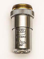 PZO Lens 10x 0.24 160 RMS fits Zeiss BIOLAR Olympus Meopta Bresser LOMO etc.