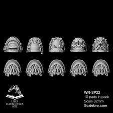 SHOULDER PADS HOUND type 32mm by Liber Daemonica bitz resin kit