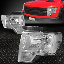 FOR 09-14 FORD F150 CHROME HOUSING CLEAR CORNER HEADLIGHT REPLACEMENT HEAD LAMPS