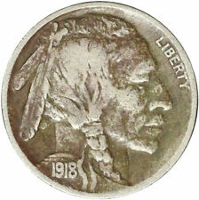 1918-D Buffalo Nickel Corroded