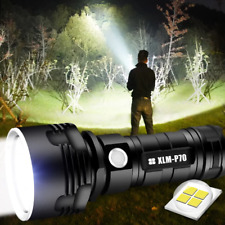 30000-100000 Lumen High Power LED Flash Light Lamp Ultra Bright Waterproof