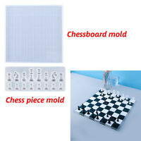 DIY Handmade Crystal Epoxy Resin Mould Chessboard & Chess Pieces Silicone Mold