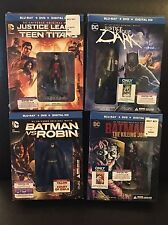 DC Universe Exclusive Batman & Justice League 4 Gift Sets w/ Figures & 2 Novels
