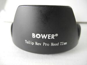 BOWER 72mm Professional Tulip Hard Lens Hood NICE