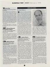 Brian Eno Downbeat Clipping
