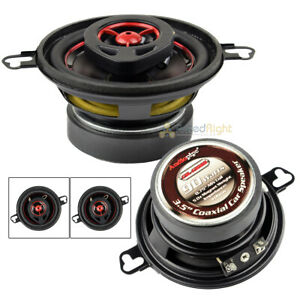"""2 Pack Audiopipe 90W 3.5"""" Coaxial Speakers Pair CSL-1302R Rubber Edge 4 Ohm"""