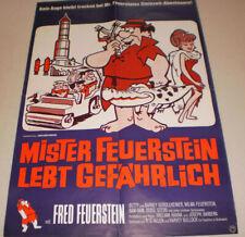klein Filmplakat ,MISTER FEUERSTEIN LEBT GEFÄHRLICH,,ZEICHENTRICK