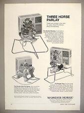 Wonder Horse Rocking Horse PRINT AD - 1969 ~ hobby horse, toy